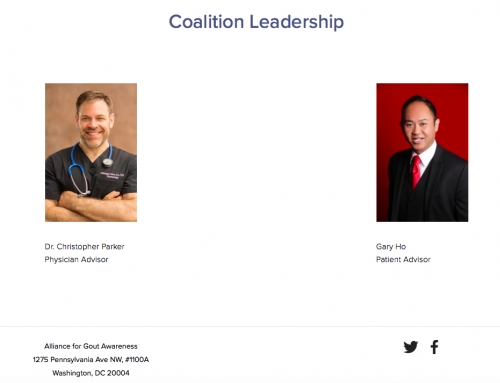 Alliance for Gout Awareness – Coalition Leadership