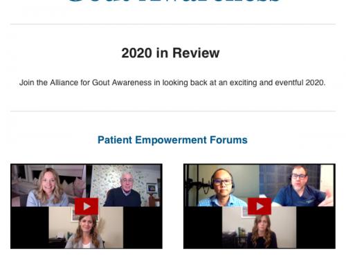 Gout Alliance Patient Empowerment Forum 2020